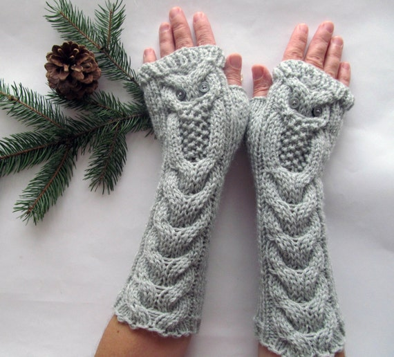 Owl Fingerless Gloves Knitting Pattern : Unavailable Listing on Etsy