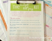 MONEY - The Budget and Bill Pay Kit - BRIGHTS - 6 documents - Instant Download