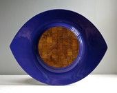 Dansk Festivaal Tray Purple Lacquer Jens Quistgaard Danish Modern 1960s Serving Cutting Board Mid Century Entertaining