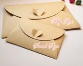 "Mini Kraft Paper Envelope (10pcs / 10.5cm x 7cm / 4.13"" x 2.75"") Valentines Wedding Party Invitations Card Business Card Packaging S245"