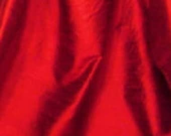 "Ruby Red iridescent 100% Dupioni Silk Fabric Wholesale Roll/ Bolt 55"" wide"