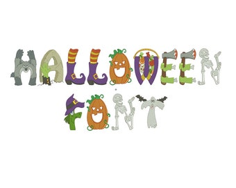 Halloween Embroidery Fonts Designs Pattern Machine Monogram - Embroidery Downloads - Holiday Embroidery Designs - Instant Download