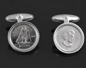 Canada 12 year wedding anniversary gift -2004 Canadian mint coin cufflinks- Perfect Canada anniversary cufflinks- Canada-perfect Gift-