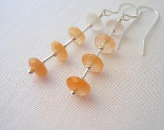 Natural Golden Beryl Sterling Silver Earrings