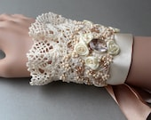 Cream Lace Wedding Cuff Bracelet