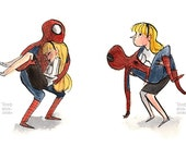 Super Couple -- Double Digital Print -- Spiderman and Gwen Stacy