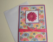 Mothers Day Card Birthday Card Any Occasion Customizable Card Multi-Colored Mums Floral Blank Inside- You Choose Sentiment on Front