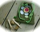 Treasure Hunters Drawstring Bag, recycled, upcycled t shirt bag, explorers bag, collections bag