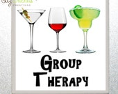 2x2 Ceramic Tile Magnet - Group Therapy - (MD5) Ready to Ship