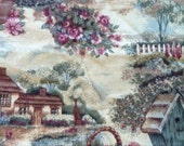 "Light Weight Woven Cotton Fabric Country Cottage 5 Yard X 45"" Wide"