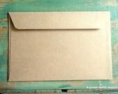 "25 6x9 Kraft Envelopes: eco-friendly envelopes, recycled envelopes, grocery bag kraft brown, 6""x9"" booklet envelopes, (15.2 cm x 22.9 cm)"