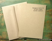 "25 Kraft A7 FLAT Cards/Envelopes: rustic invites, recycled 5 1/8x7"" (130x178mm) or 5x7"" kraft brown/light brown, 65lb, 80lb, 100lb or 105lb"