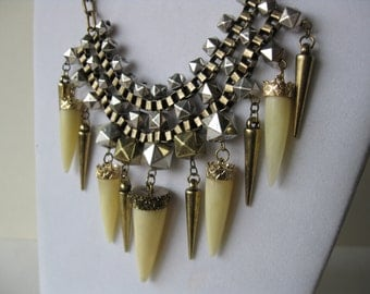 Vintage Funky Spikes Necklace