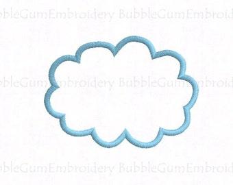 Cloud Applique Embroidery Design Instant Download