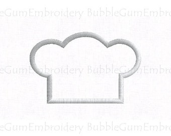 Chef's Hat Applique Embroidery Design Instant Download
