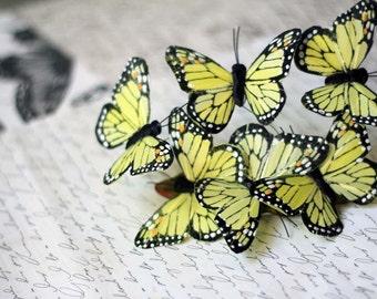 Yellow Butterfly Barrette