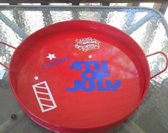 Fourth of July plater/tray