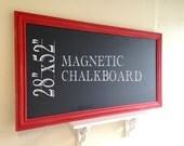 Huge Chalk Board Blackboard Homeschool Chalkboard Kitchen Restaurant Chalkboard Red Large Modern Chalkboard - MoRE CoLORS