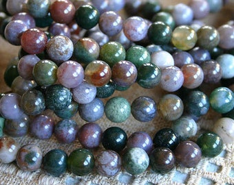 66pcs Natural Gemstone Beads Fancy Jasper 6mm 16 inches