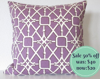 Pillow sale purple lattice 20x20 throw pillow covers