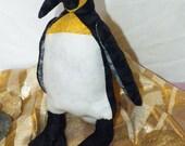 Fat Little Penguin Stuffed Toy OOAK Handmade
