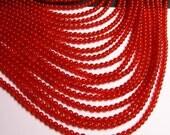 Carnelian gemstone 4mm round -  full strand - 96 pcs - A quality - RFG257