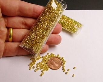 Crimp beads 3mm(2.7mm) 1000 pcs - Gold  - Good value -GCB3