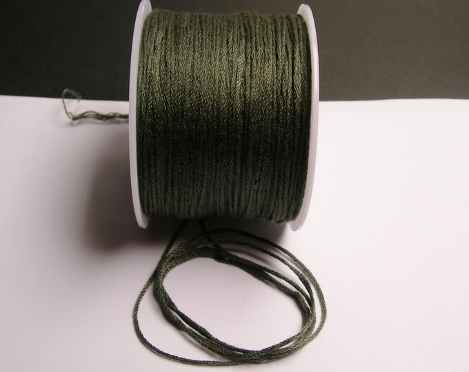Cotton Cord - knotting - embroidery cord - 1mm - 120 meter - 390 foot - Grey - CTN3