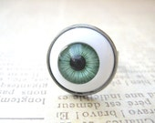 Green EyeBall Ring, Halloween Jewelry, Halloween Ring,Eye Ball Jewelry, Creepy Jewelry, Scary Ring, Halloween Gift, Trick or Treat