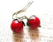 Red Berry Dangle Earring