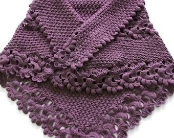 Beautiful Triangle Pale Violet  Shawl -Matte color Shawl
