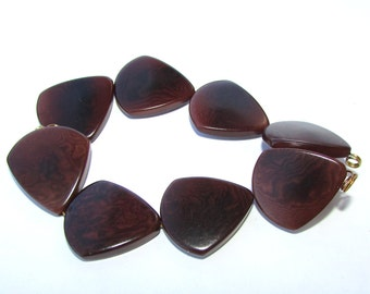 Four Brown Tagua Nut Beads, Triangle Beads, 22mm Beads, Vegetable Ivory Beads, Natural Beads, Organic Beads, EcoBeads