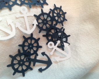 Nautical Anchor and Ship's Wheel Confetti - 100 pcs.