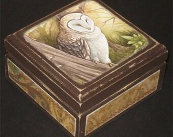 Afternoon Owl Keepsake Box
