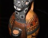 Wonderful Ceremonial POT with Jaguar and Llamas from Peru