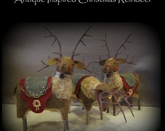 Waiting for the Sleigh Trio of Reindeer E-PATTERN by cheswickcompany