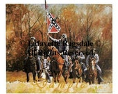 Civil War Print of Confederate Horse Soldiers Lafayette Ragsdale