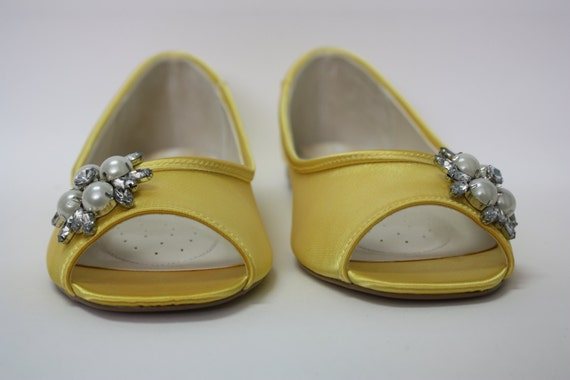 yellow shoes for wedding items similar to yellow wedding shoes flat bridal shoe 1522