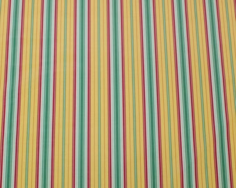 "LAMINATED Cotton  - Gold Stripes, 56"" Wide, BPA & PVC Free"