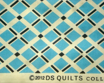 Fancy Free Diagonal Plaid blue DS Quilts Denyse Schmidt fabric  FQ or more