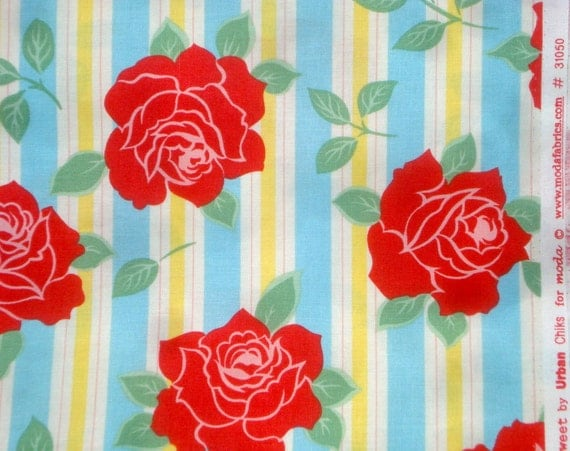 Urban Chiks Sweet Sassy in Icing blue moda fabric FQ or more