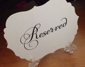 Fancy Reserved Sign, bracket, vintage, Victorian