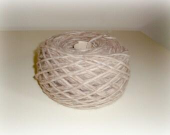 Wool Silk Yarn - Hand Knitting - Thick Gauge Yarn - Knitting Yarn - Beige - One Ball 130g - Soft yarn