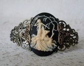 Goddess Diana Cuff Bracelet, wiccan jewelry pagan jewelry wicca jewelry goddess jewelry witch jewelry witchcraft magic metaphysical