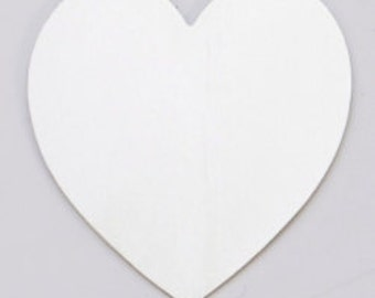 Large Nickel Silver Heart - 6 Pk.  1 3/8 x 1 1/2  inches   24g.  Stamping Blank