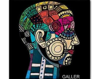 65% Off- Surreal Anatomy Art Print Phrenology Chart Ceramic Tile of Antique Medical Art Illustration Anatomical Head Skull by Heather Galler
