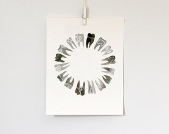 Circular Symbolic Teeth, 8x10 print