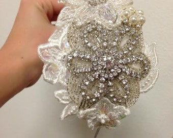 Vintge Inspired Bridal Headpiece with Swarvoski Crystals