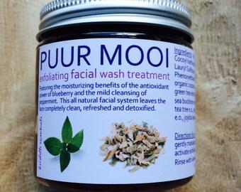 Puur Mooi Exfoliating Facial Wash Treatment-4oz