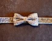 Silver Glitter Bow Headband. Girls Hair Accessories, Glitter Elastic Headband, Silver Bow Headband. Sparkle Headband, Adult, Teen, Baby Girl